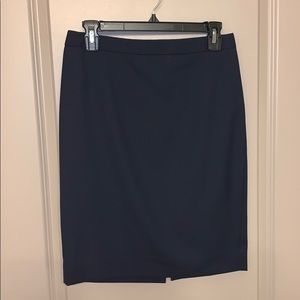J Crew Super 120's Wool Navy Blue Pencil Skirt